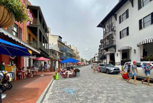 Rosemary Beach offers a lot of shopping and dining options