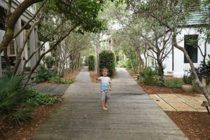 The Rosemary Beach Fitness Trail winds throughout the community